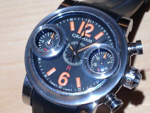 グラハムGRAHAM ソードフィッシュ メンズ腕時計 SS×ラバー クロノグラフ 中古品 烏丸・河原町